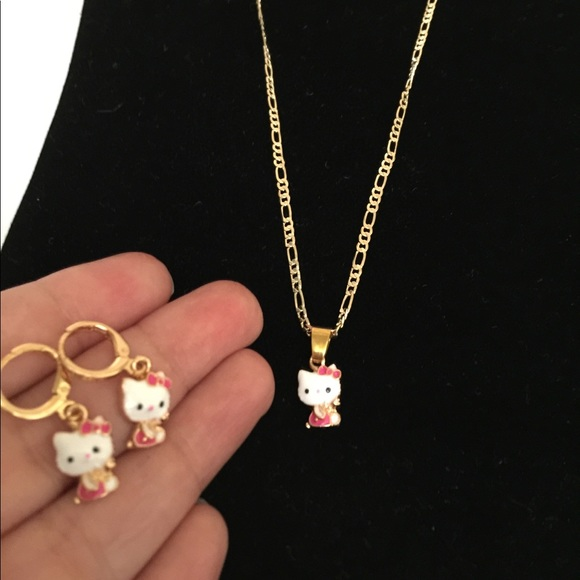 9a9de07a6 Jewelry | Brand New Hello Kitty Necklace And Earrings Set | Poshmark